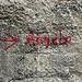 die einzige Markierung an der Strasse kurz vor dem Santuario Gibilmanna