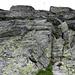 Die Felsstufe (mit Drahtseil) beim Wändlein
