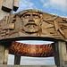 Курган Славы / Kurgan Slavy - Blick auf Teile der Innen- und Außenseite des beeindruckenden Ringes auf dem Ehrenhügel.