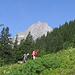 Due alpinisti americani venuti ad arrampicare al Salbitschijen.