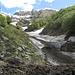 Valle di Chiegg, verso Spluga. Sul fondo il Pizzo di Corbella