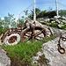 Alte Relikte einer alten Seilbahn in La Montagnola