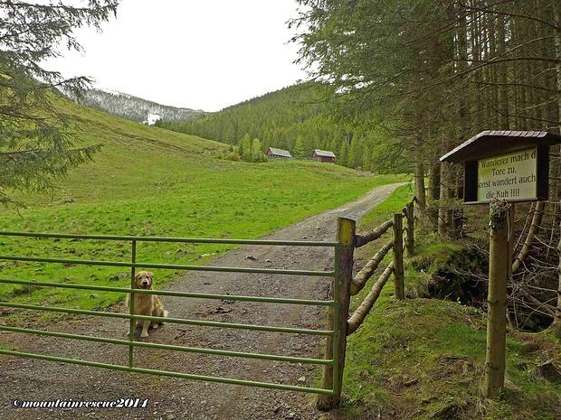 Die Stockerhütte - an ihr vorbei geht es weiter zur Ramplerhütte