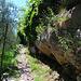 Schöner Abstieg auf der Ostseite des Felsklotzes
