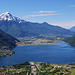 Splendida vista sul lago di Mezzola e Pian di Spagna