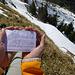 Mini-Gipfelbuch fürs Chlichli - gehet hin und traget euch ein. Bzw. findet erst mal das Buch...