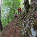 wenige Meter nach dem Einstieg - ein Seil ist auf der gesamten Länge eingerichtet