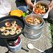 Kochen beim Gipfelkreuz der Schwammegg