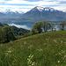 Schöne Aussicht vom Vesuv auf den Niesen