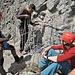 Seilverlängerung direkt am Fels