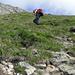 Aufstieg Gipfelhang