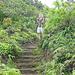 Treppen gegen Ende des Aufstiegs
