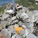 Das Gipfelbuch ist nun wieder gut verstaut nach dem es bei meiner Ankunft einfach auf dem Steinhaufen lag.