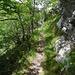 ... zum luftigen Weglein auf der Nordseite des Gipfels