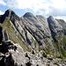 Monte Cavallo e la cresta ovest in primo piano,visti dalla vetta del monte Contrario