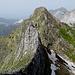 sguardo indietro lungo la cresta ovest e il monte Contrario