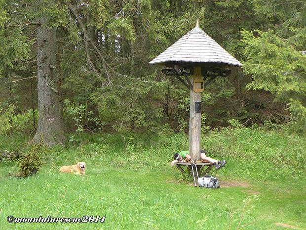 Am Buchecksattel sind mehrere Abstiegsmöglichkeiten gegeben