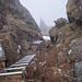 Gut gesicherte Steilstufe