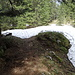 unterwegs kleinere Schneeflecken