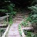 hier beginnen die Treppen