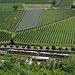 Unten im Tal zeigt sich auch die Vinschgerbahn