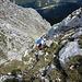 Der Übergang zum niedrigeren Gipfelkreuz der Großen Arnspitze ist gar nicht so ohne