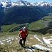 Aufstieg über die Südflanke - noch geht´s ganz gut mit Stöcken