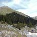 Im Abstieg, Rückblick aufs Stockhorn, diesen leider übervölkerten Berg.