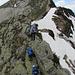 Bocchetta del Motto Rotondo lädt zum Klettern ein, denn der Höhenweg ist teilweise mit bis zu 2 Meter Schnee belagert.