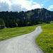 Vorbei am Skiheim gehts hinauf zum Schuttanneneck.