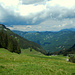 Blick vom Schuttanneneck zum Hochgrat und zur Winterstaude.