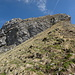 Rückblick im Abstieg zum Gipfel