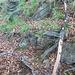 Einer der wenigen Überreste des Querungspfades Cavallo - Pena