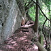 am Felsen entlang