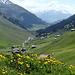 Blick vom Gasthaus Alpenrose zum Parkplatz