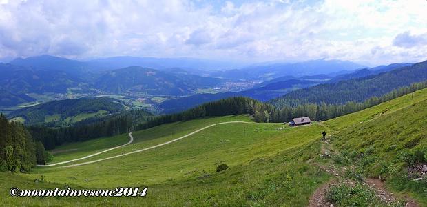 Abstieg über Mugelsender-Ochsenstall zum Startpunkt der Tour