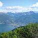 Blick von der Alpe di Neggia auf Locarno
