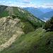 meine Alternativroute<br /><br />rechts vom Bildrand den steilen Wiesenhang gequert