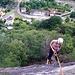 Ponte Brolla. Wir sind die letzten die noch am Fels Klettern
