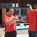Hans Peter und Harry nach knapp 2 Stunden auf der Frassenhütte
