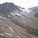 Etwas rechts der Bildmitte ist der Weg, den wir zurück Richtung Derra-Alpe nahmen.
