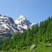 Aufstieg durchs Äussere Faflertal mit Blick zum Bietschhorn