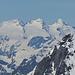 fast eineiige Drillinge: Rosenhorn, Mittelhorn und Wetterhorn