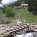L'Alpe Voisc con il suo ponticello.