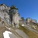 Gätterifirst weitere Bilder: Blick von der Alp Planggen auf die mächtige Felsmauer