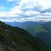 Panorama vom Aufstiegsgrat