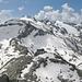 Von links Furggeltihorn (im Vordergrund), Güferhorn, Läntahorn, Rheinwaldhorn, Grauhorn