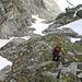 Abstieg vom Furggeltihorn durch die Rinne in der Südwand