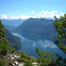 Blick vom Sasso Rosso auf den Luganer See