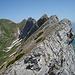 Gätterifirst: Blick vom zweiten Felskopf zurück